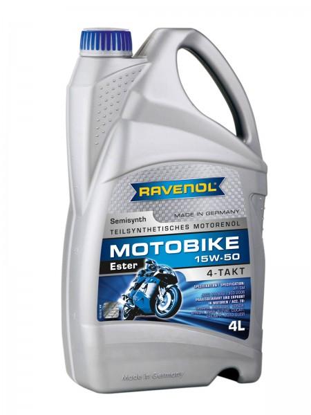 RAVENOL Motobike 4-T Ester SAE 15W-50 - 4 Liter