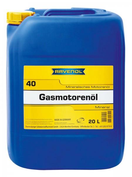 RAVENOL Gasmotorenöl SAE 40 - 20 Liter