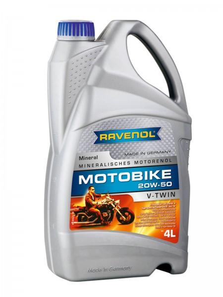 RAVENOL Motobike V-Twin SAE 20W-50 Mineral - 4 Liter