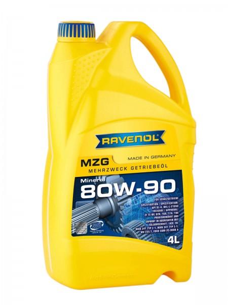 RAVENOL MZG Mehrzweck-Getriebeöl SAE 80W-90 GL4 - 4 Liter