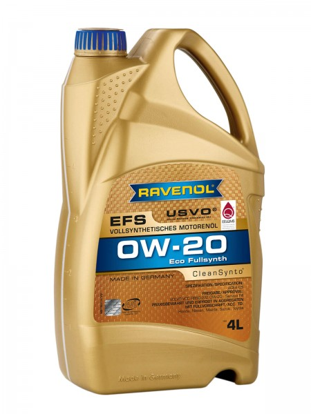 RAVENOL EFS EcoFullSynth. SAE 0W-20 - 4 Liter