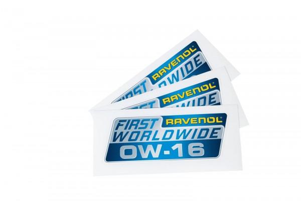 RAVENOL Auto-Aufkleber 0W-16