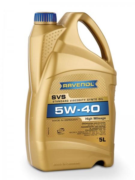 RAVENOL SVS Standard Viscosity Synto Oil SAE 5W-40 - 5 Liter