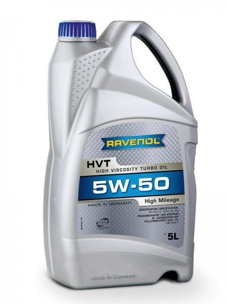 RAVENOL HVT High Viscosity Turbo Oil SAE 5W-50 - 5 Liter