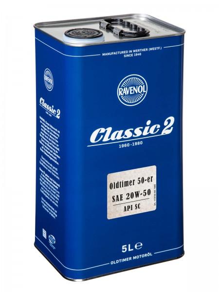 RAVENOL Oldtimer 50-er SAE 20W-50 API SC - legiert - Classic 2 - 5 Liter