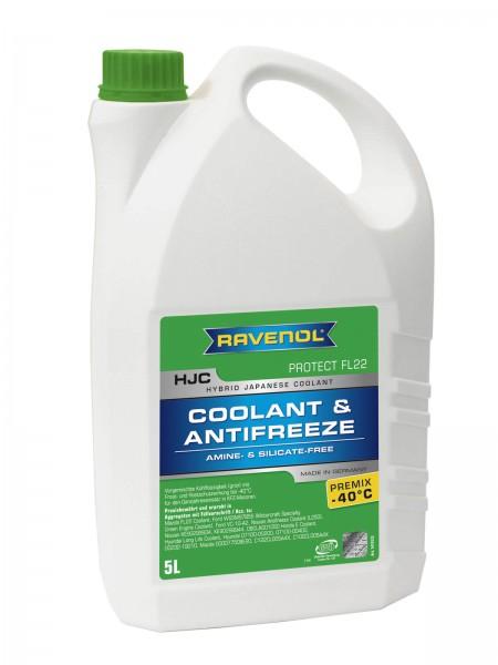 RAVENOL HJC - Protect FL22 Premix -40°C(Kühlerfrostschutz gebrauchsfertig) - 5 Liter