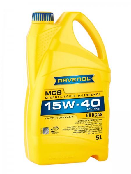 RAVENOL MGS SAE 15W-40 für Gasmotoren - 5 Liter