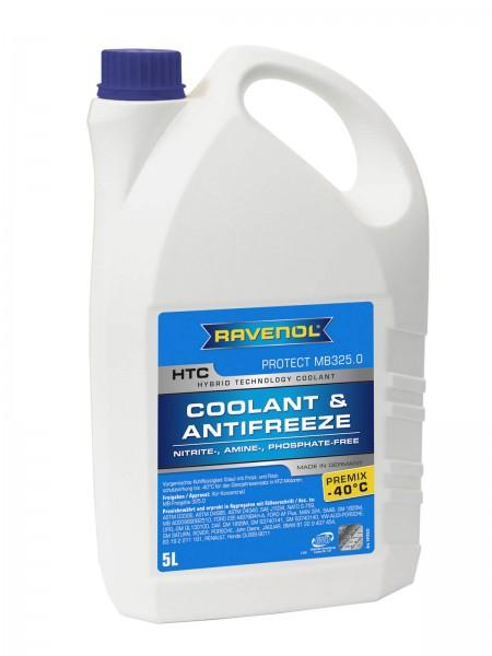 RAVENOL HTC - Protect MB 325.0 Premix -40°C (Kühlerfrostschutz gebrauchsfertig) - 5 Liter