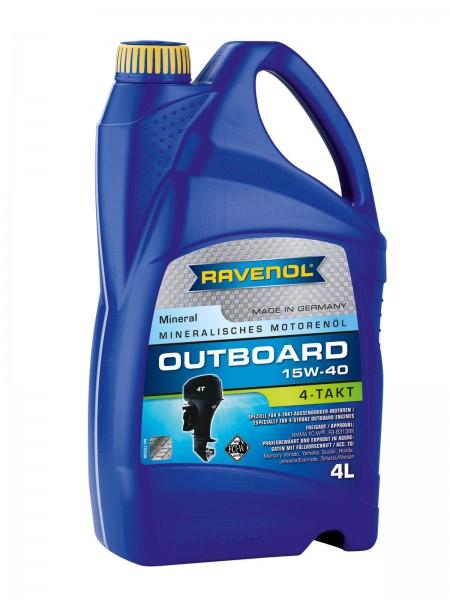 RAVENOL Outboardoel 4T SAE 15W-40 - 4 Liter