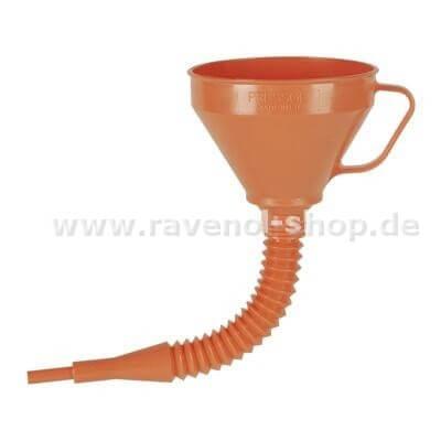 RAVENOL Trichter mit flex. Rohr und Messingsieb 160mm