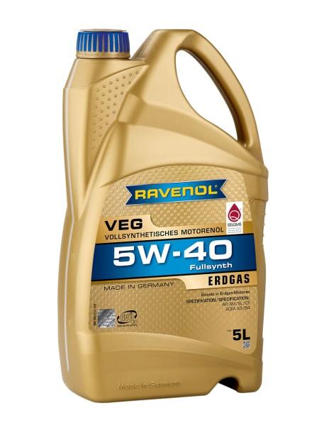 RAVENOL VEG SAE 5W-40  für Erdgasmotoren - 5 Liter