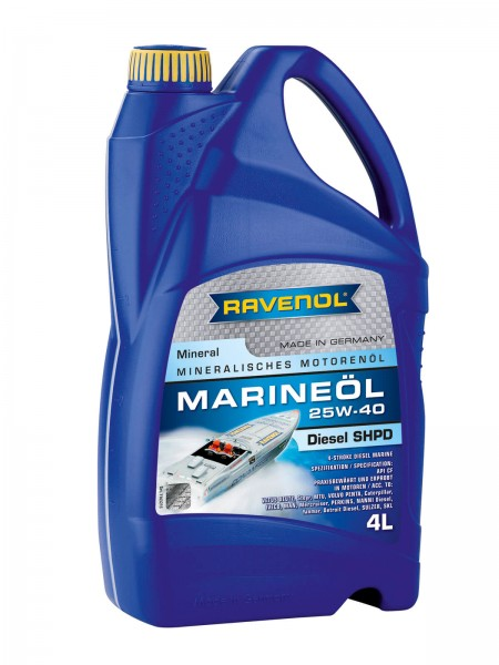 RAVENOL Marineöl Diesel SHPD SAE 25W-40 mineral - 4 Liter
