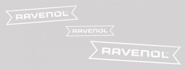 RAVENOL Aufkleber weiß geplottet