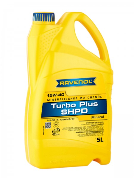 RAVENOL Turbo-Plus SHPD SAE 15W-40 - 5 Liter