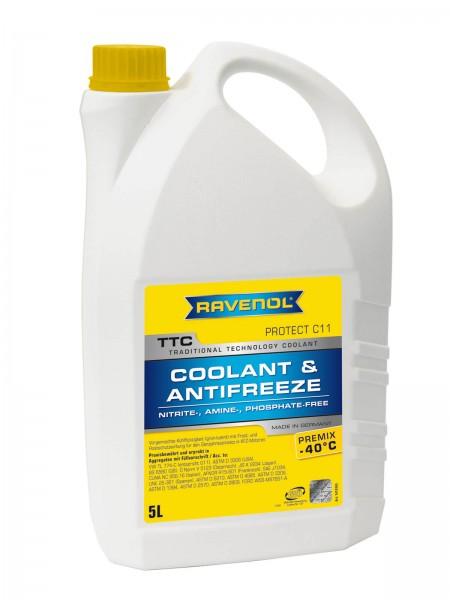RAVENOL TTC - Protect C11 Premix -40ºC (Kühlerfrostschutz gebrauchsfertig) - 5 Liter
