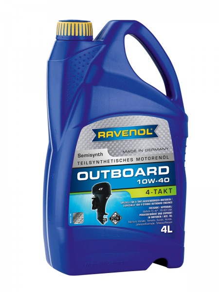 RAVENOL Outboardoel 4T SAE 10W-40 - 4 Liter