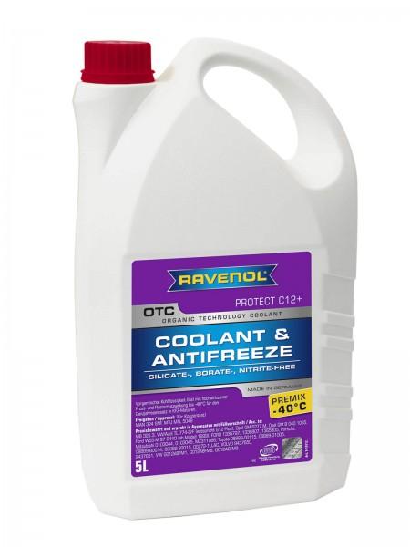 RAVENOL OTC - Protect C12+ Premix -40°C (Kühlerfrostschutz gebrauchsfertig) - 5 Liter