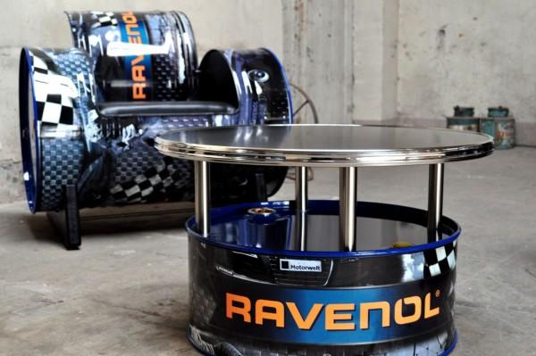 RAVENOL Fass-Couchtisch