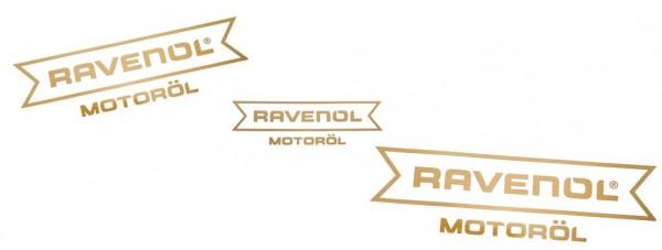 "RAVENOL Aufkleber gold ""Motoröl"" geplottet"