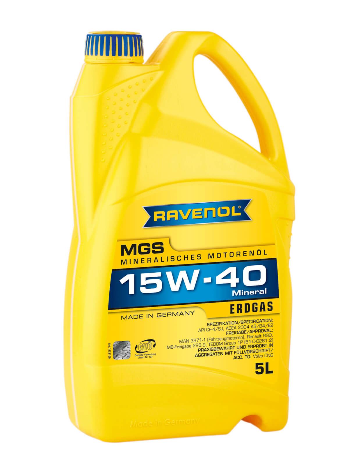 ravenol mgs 15w 40 f r gasmotoren direkt im ravenol shop kaufen. Black Bedroom Furniture Sets. Home Design Ideas
