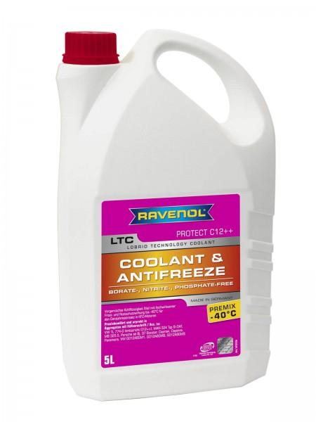 RAVENOL LTC - Protect C12++ Premix -40°C (Kühlerfrostschutz gebrauchsfertig) - 5 Liter