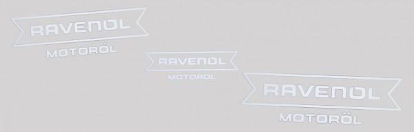"""RAVENOL Aufkleber weiß """"Motoröl"""" geplottet"""
