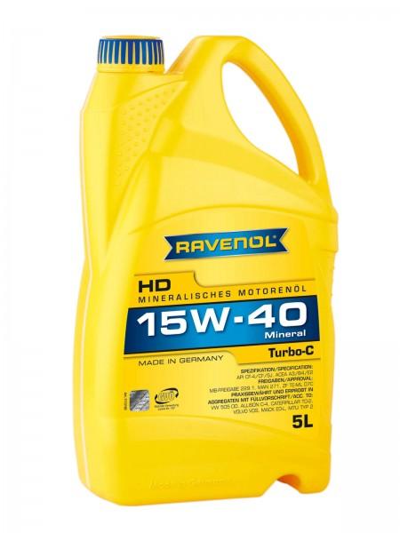 RAVENOL Turbo-C HD-C SAE 15W-40 - 5 Liter