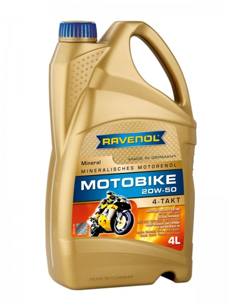 RAVENOL Motobike 4-T Mineral SAE 20W-50 - 4 Liter